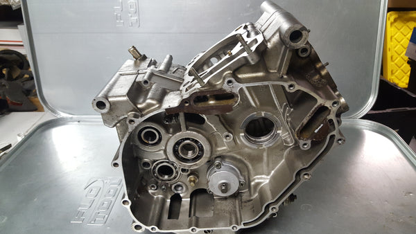 silver engine case pair matched 1g sv650 99-02