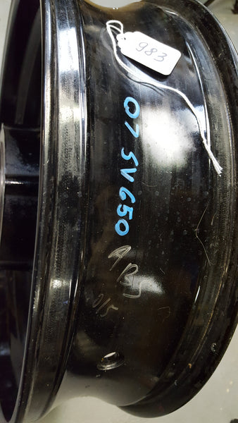 sv650 ABS rear wheel (different from regular) 2g 07+
