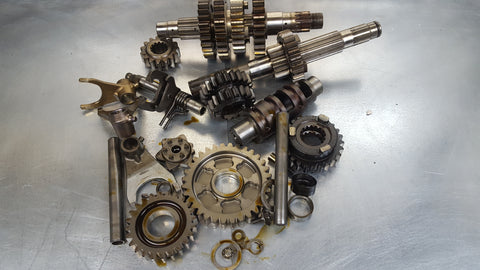 transmission with shift drum star gears etc sv1000 2003+