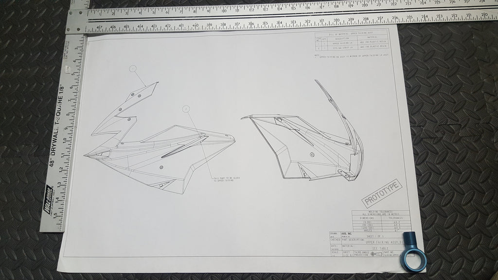 Fischer Upper Fairing Assembly Print