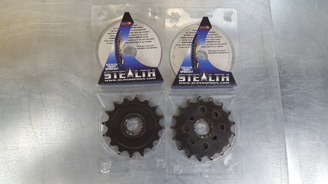 #1295-15T Front Sprocket - CBR600 F2 F3 520 conversion Front Sprocket - Hardened Steel