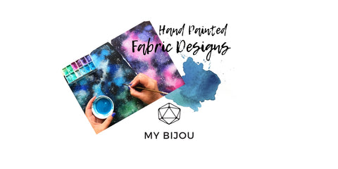 My Bijou hand painted fabric designs textile collaboration