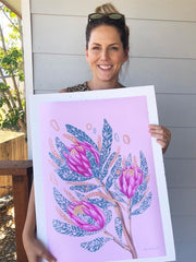 Kylie Ferriday Australian watercolour artist featured on kids clothing
