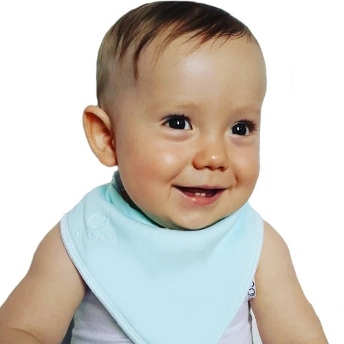 Plain bandana bibs Australia. Baby bibs. My Bijou gorgeous plain bandana bibs made from 100% organic cotton and stay dry backing.
