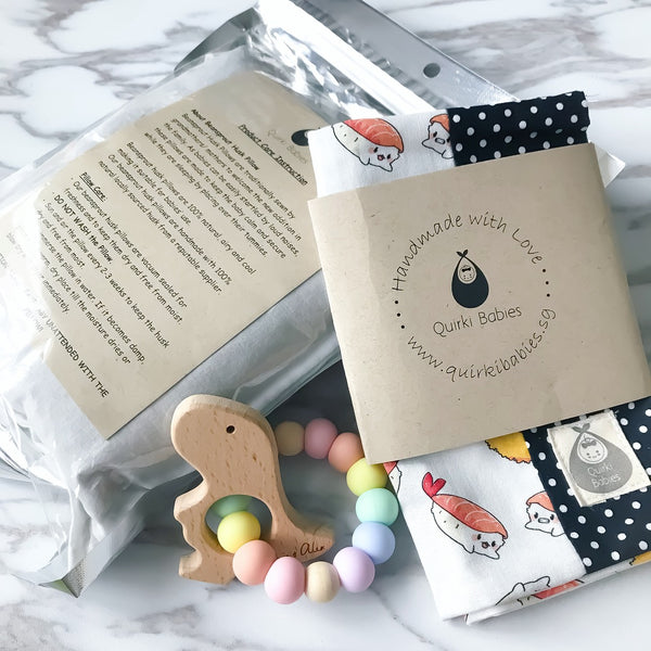 Sushi Love BSH Pillow + Teether - Quirki Babies