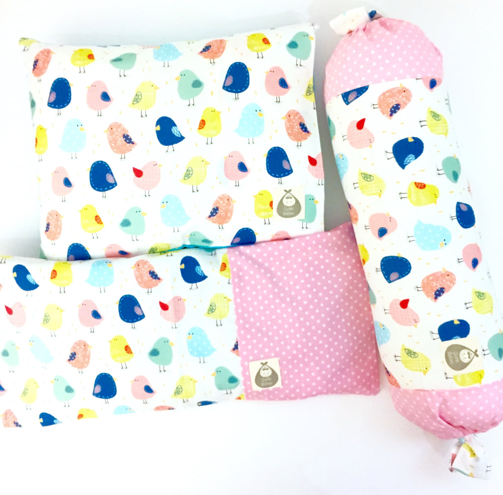 Chickee Little One 3 Piece Baby Pillows Set - Quirki Babies