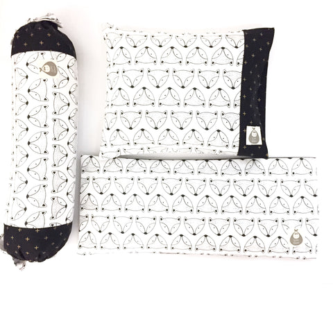 Hello Mr. Fox 3 Piece Baby Pillows Set - Quirki Babies