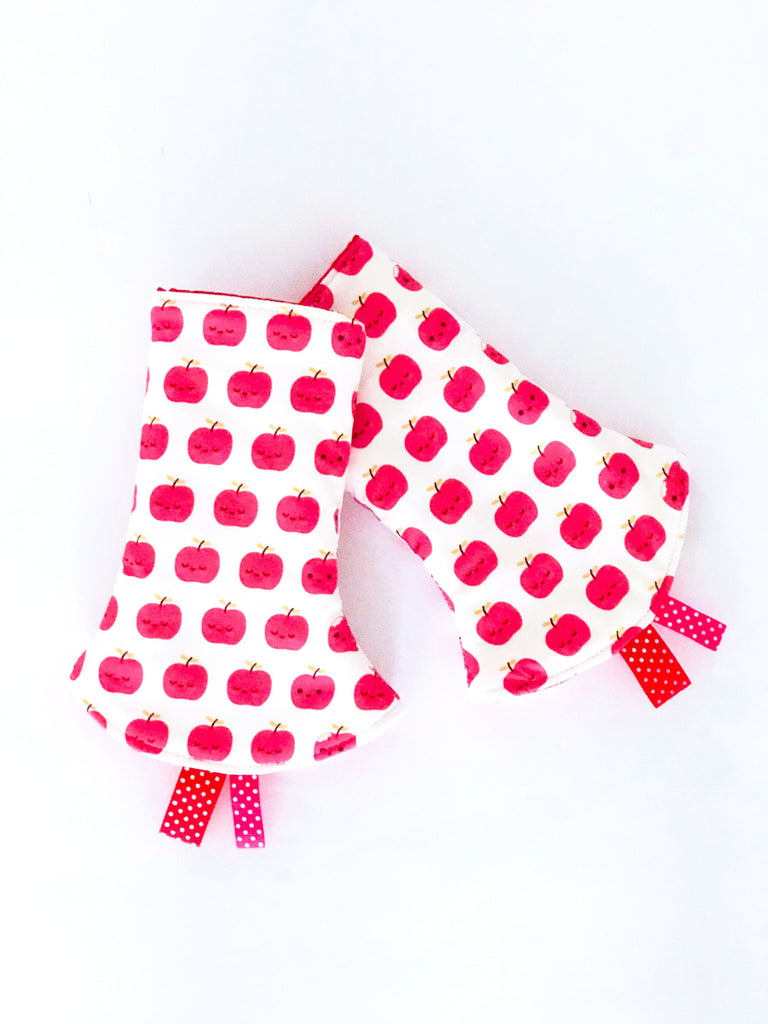Little Apples Corner Drool Pads - Quirki Babies