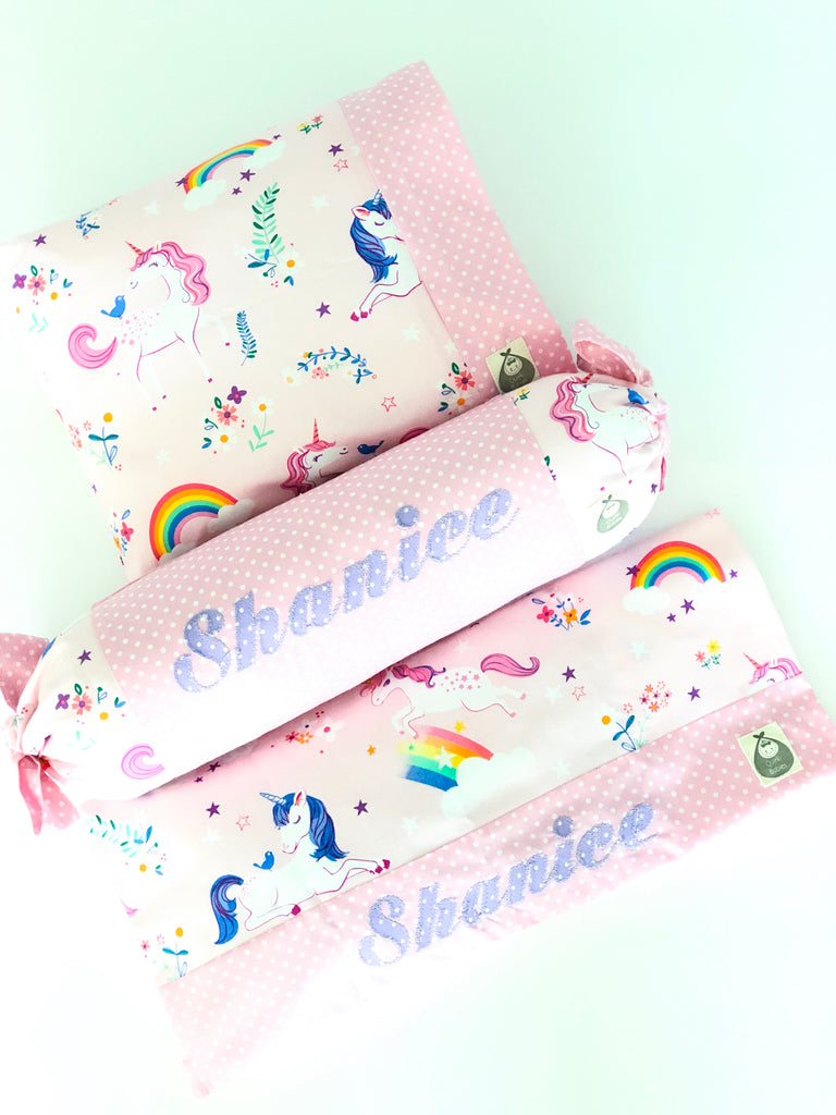 Unicorn Dreams 3 Piece Baby Pillows Set - Quirki Babies