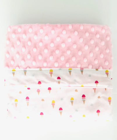 Sweet Ice Cream Minky Blanket - Quirki Babies