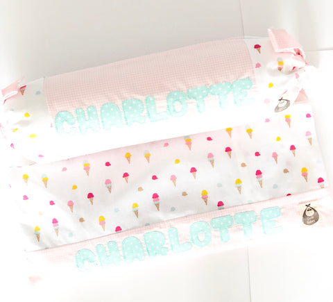 Sweet Ice Cream 2 Piece Baby Pillows Set - Quirki Babies