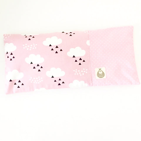 Cloudy Day Baby Beansprout Husk Pillow - Pink - Quirki Babies