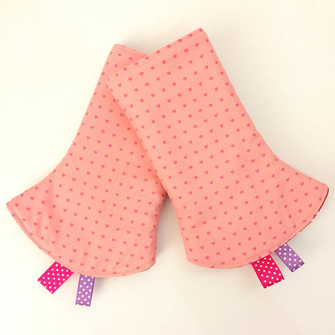 Lovely Hearts Corner Drool Pads - Quirki Babies