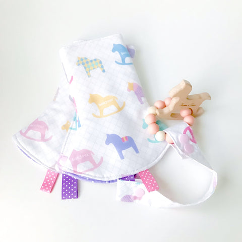 Rocking Horse Drool Pads + Teether Gift Set - Quirki Babies
