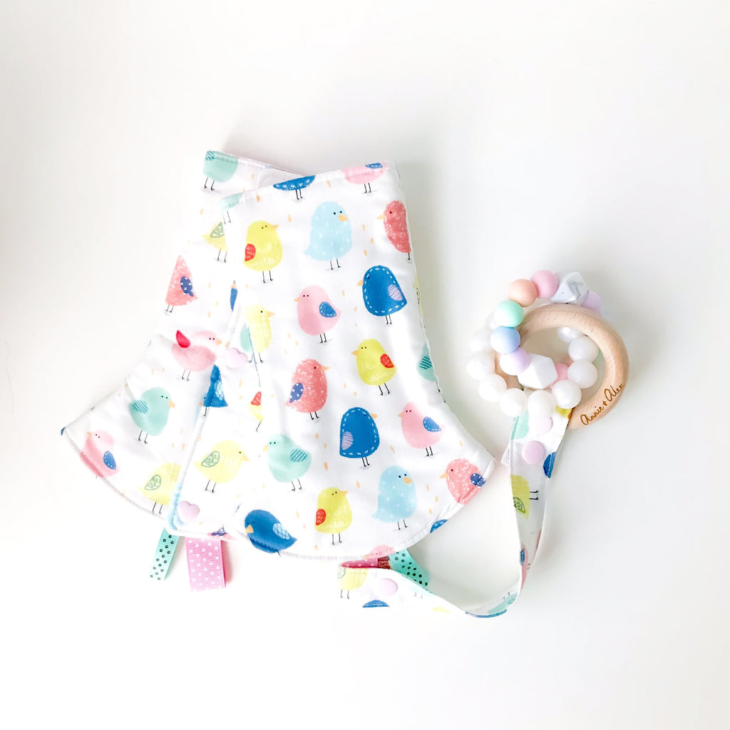 Chickee Little Ones Drool Pads + Teether Gift Set - Quirki Babies