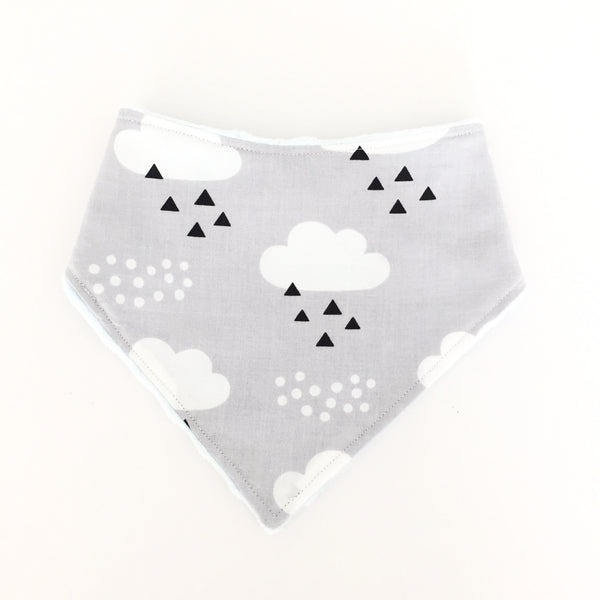 Cloudy Day In Grey Dribble Bib - Quirki Babies