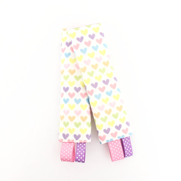 Lovely Hearts Stroller/ Car Seat Straps Cover - Quirki Babies