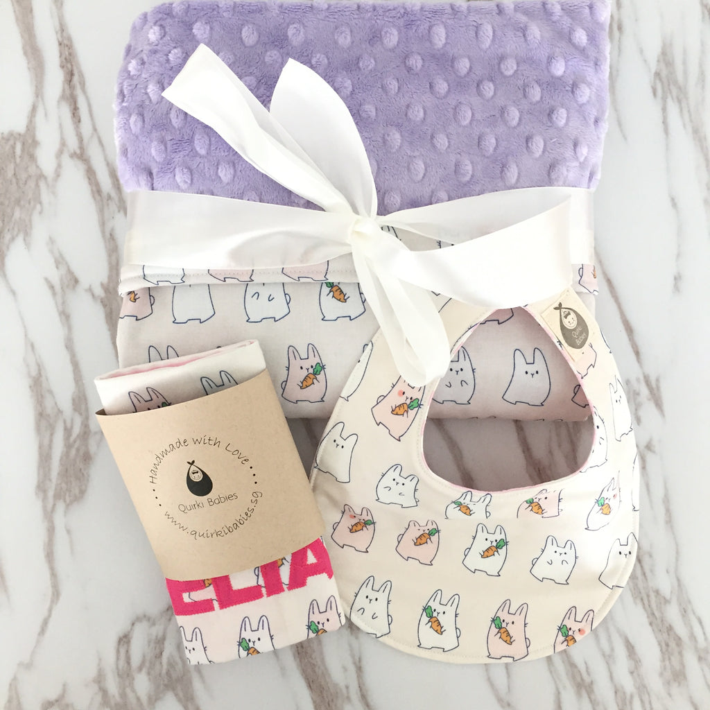 Little Bunnies 3 Piece Baby Gift Set - Quirki Babies