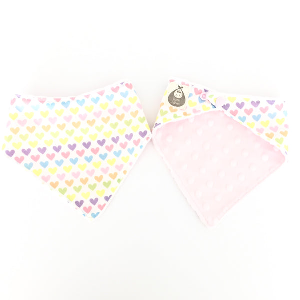 Lovely Hearts Dribble Bib - Quirki Babies