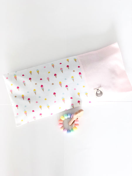 Sweet Ice Cream Baby BSH Pillow + Teether - Quirki Babies