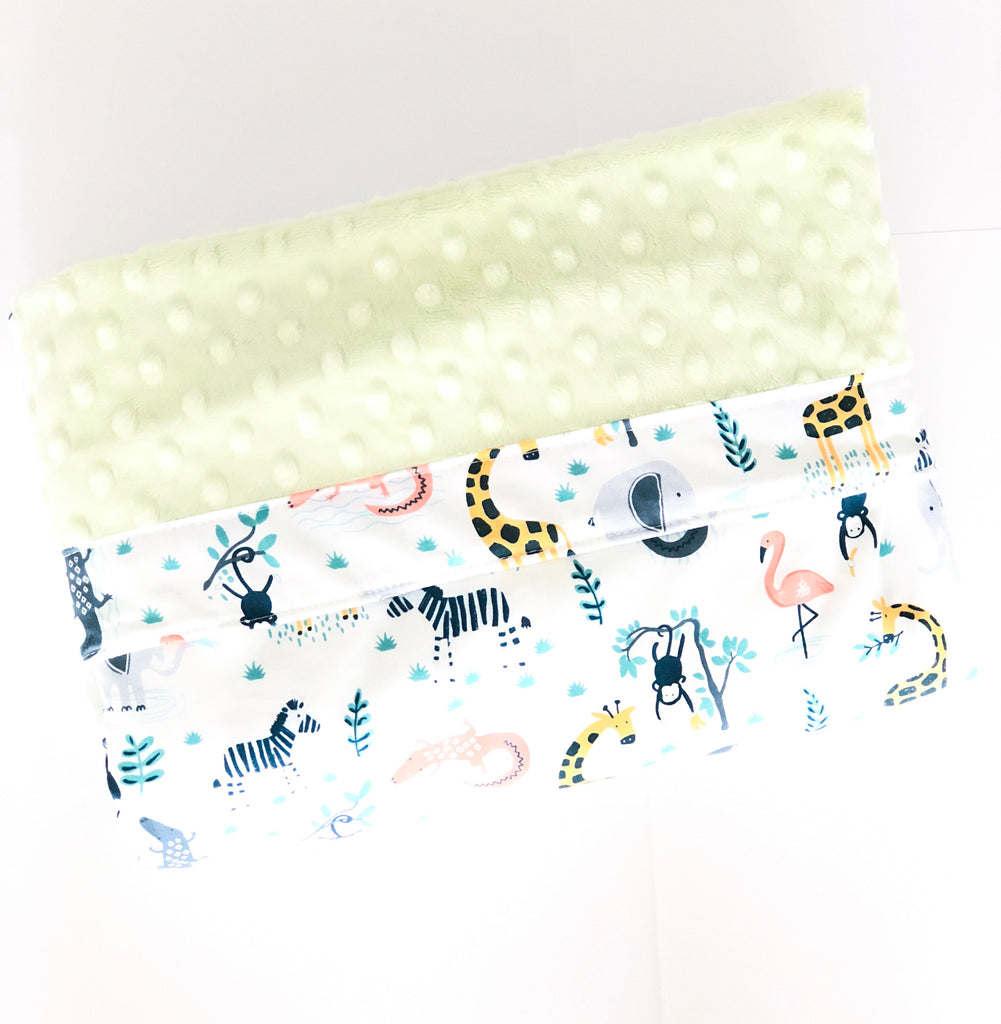 Safari Friends Minky Blanket - Quirki Babies