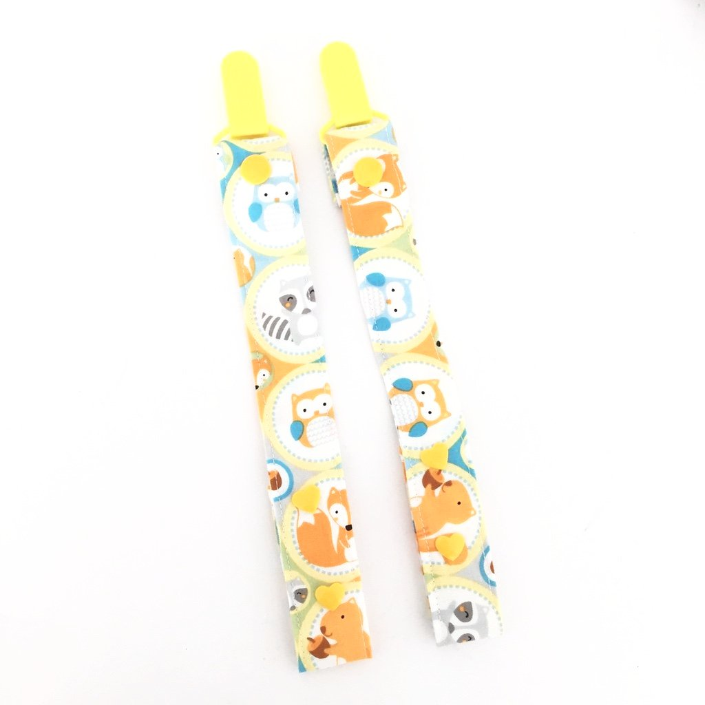 Happy Woodlands Friends 2-In-1 Pacifier Clip/Teether Strap - Quirki Babies