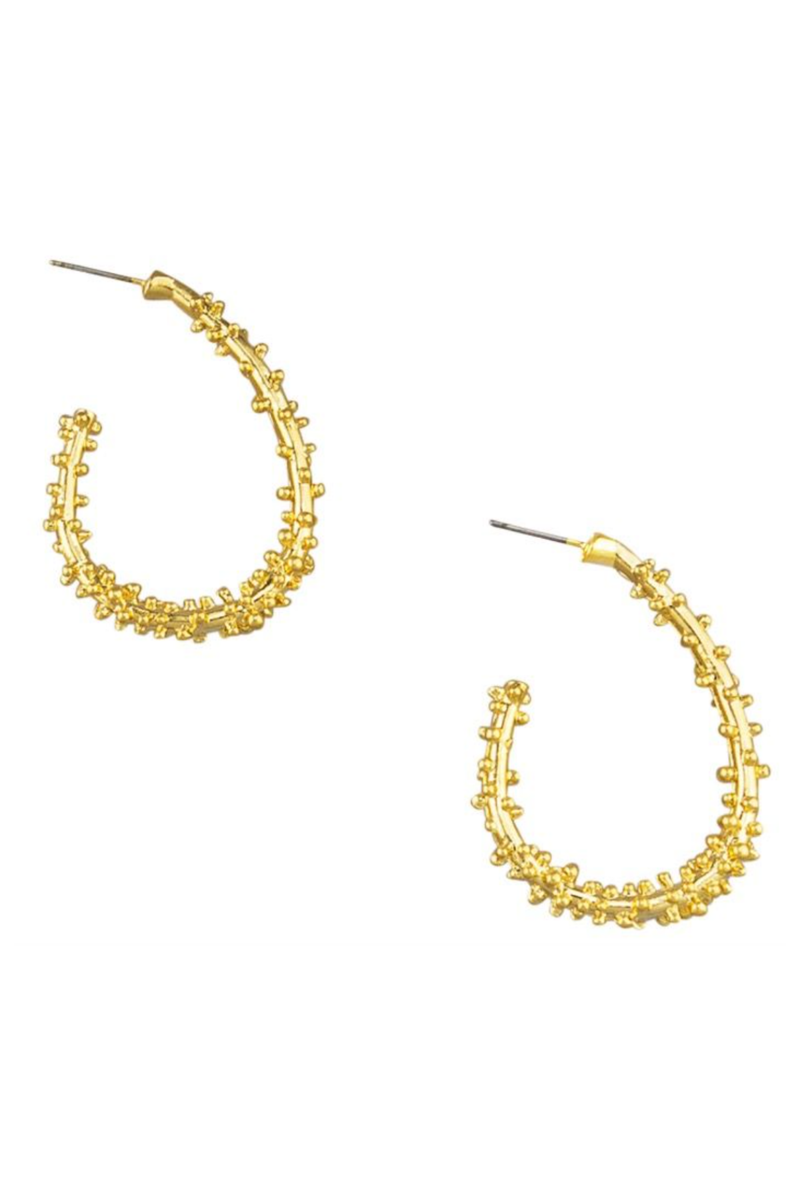 gold divine vine hoops