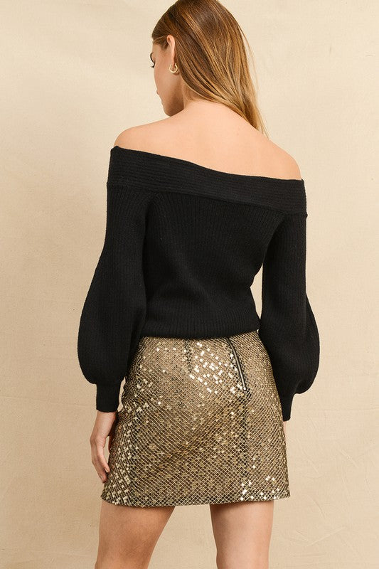 Golden Mini Skirt