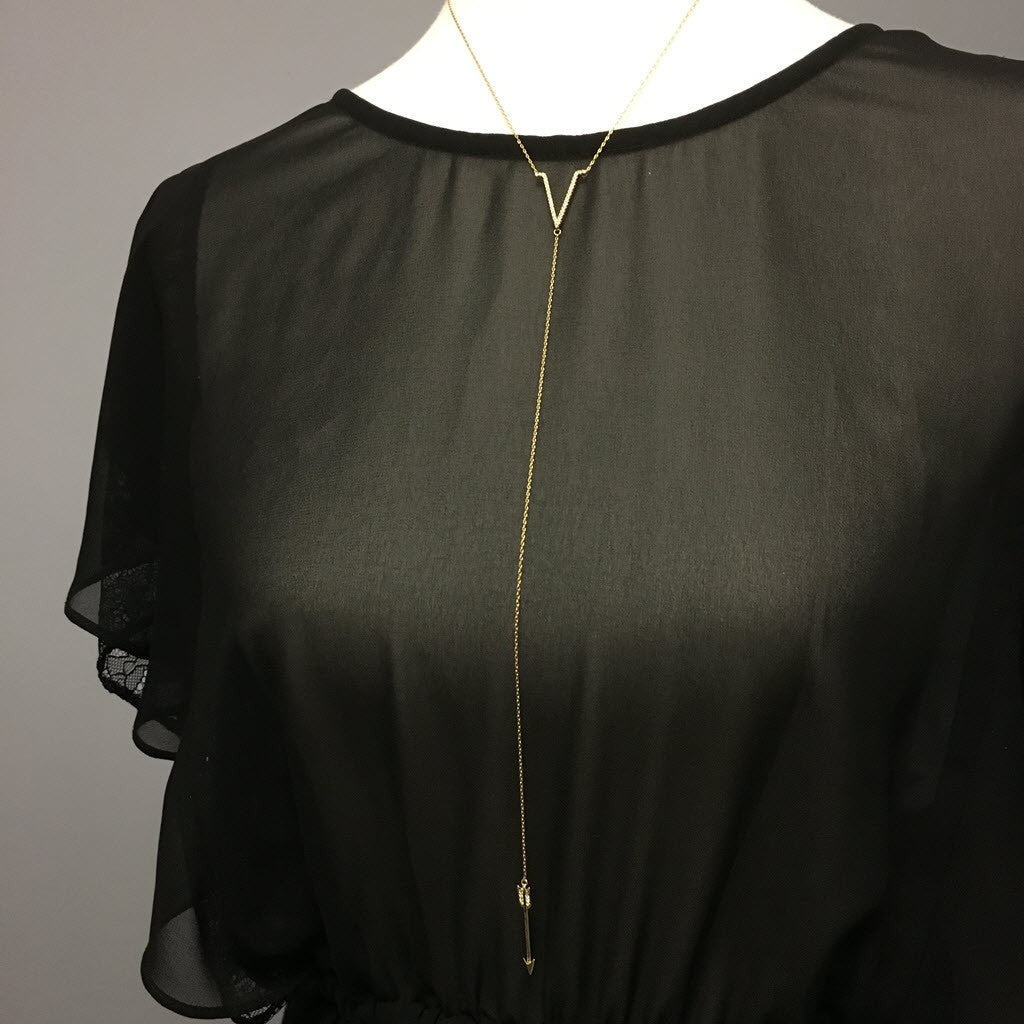 Long Arrow Slim Necklace