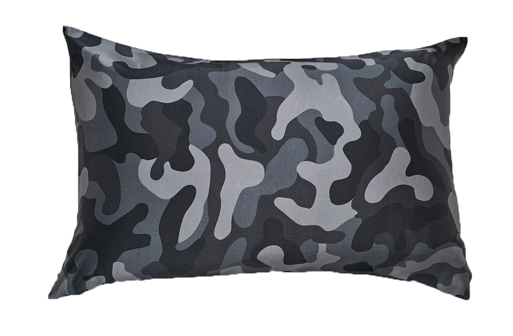 Grey CamoSilk Pillowcase
