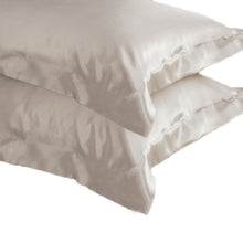 Latte 100% Pure Mulberry Silk Oxford Style Pillowcase