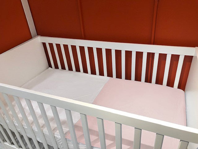 Blush Pink 100% Pure Mulberry Silk and Bamboo Fitted Cot Sheet