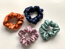 Medium Silk Scrunchies - Lotus Pink and Teal Twin Pack