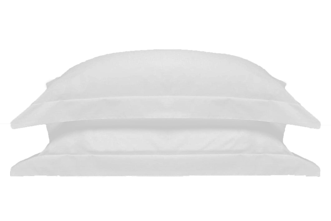 Ivory White 100% Pure Mulberry Silk Oxford Style Pillowcase