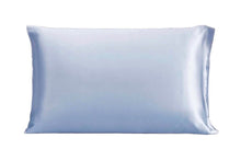 Cool Blue 100% Pure Mulberry Silk Pillowcase