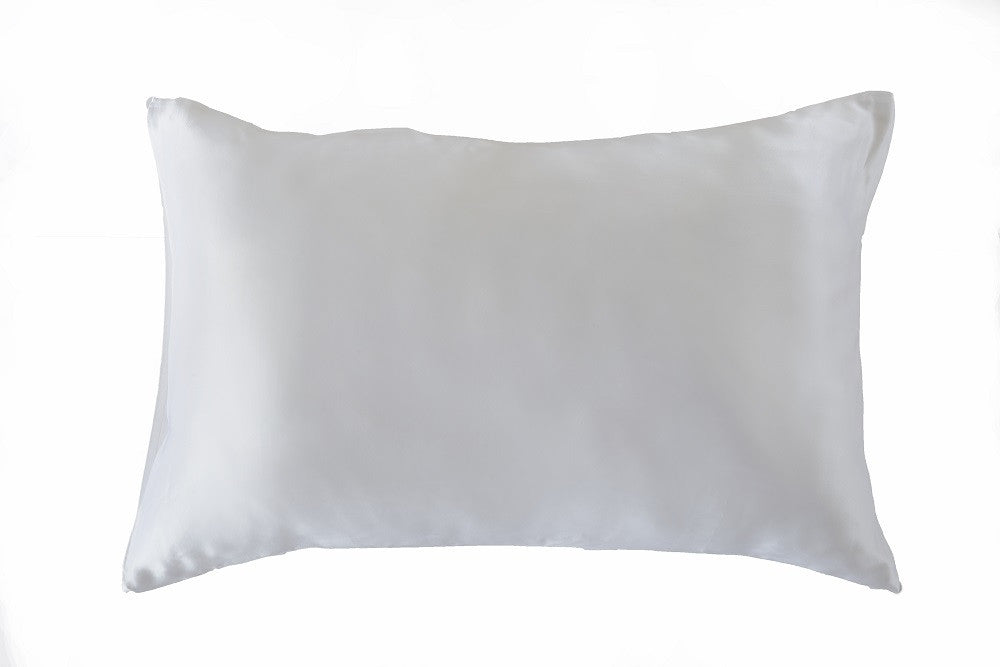 White 100% Pure Mulberry Silk Pillowcase