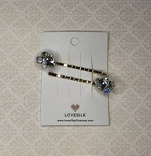 Crystal Love Heart Diamante Hair Clip - 2 Pack