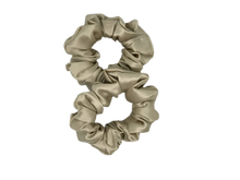 Medium Silk Scrunchies - Latte