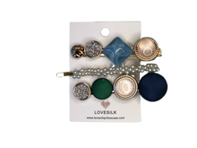 Mix & Match Pearl Hair Clip Pack - Blue