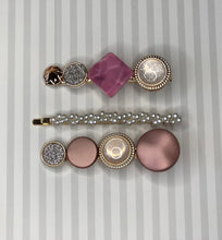 Mix & Match Pearl Hair Clip Pack - Pink