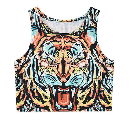 Eye of the Tiger Tank Crop Top