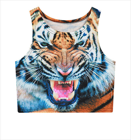 Tiger Tank Crop Top