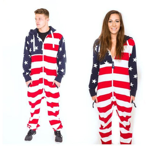 Unisex US Flag Jumpsuit/Onesie