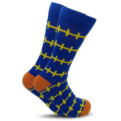 Barbed Wire Crew Socks