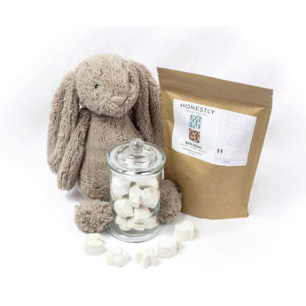 Natural Mini bath bombs for baby and children and aids itchy dry skin