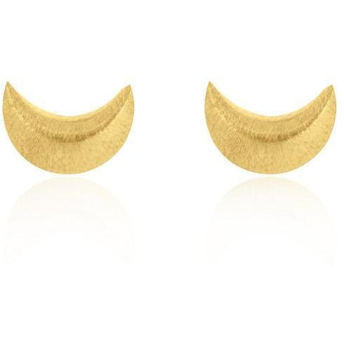 Linda Tahija Crescent Moon Earrings Yellow Gold Plated Sterling Silver