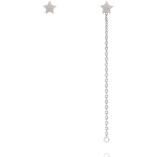 Linda Tahija Star Stud with Chain Sterling Silver