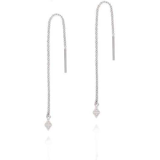 Linda Tahija A New Dawn Thread Earrings Rhombus Sterling Silver