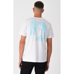 Afends Glad Standard Fit Pocket Tee White