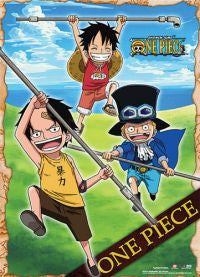 Ace, Luffy & Sabo Kids Scroll